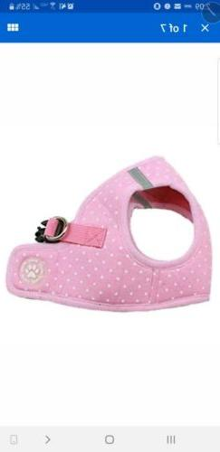BINGPET BB5004 Polka Dot Soft Vest Dog Puppy Pet Harness Adj