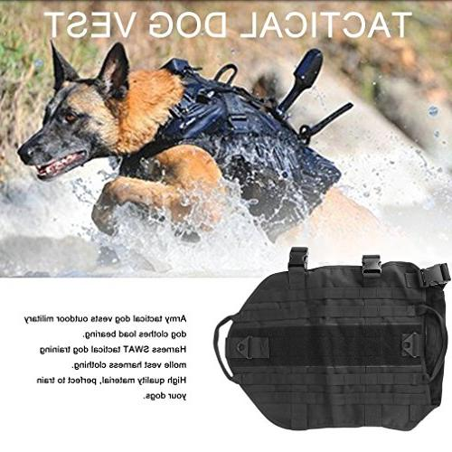 YCDC black Outdoor Dog Clothes Load Harness