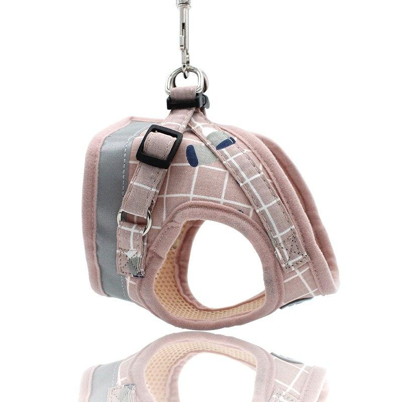 Breathable Mesh <font><b>Harness</b></font> and <font><b>Leash</b></font> Puppy Collar French arnes perro 35