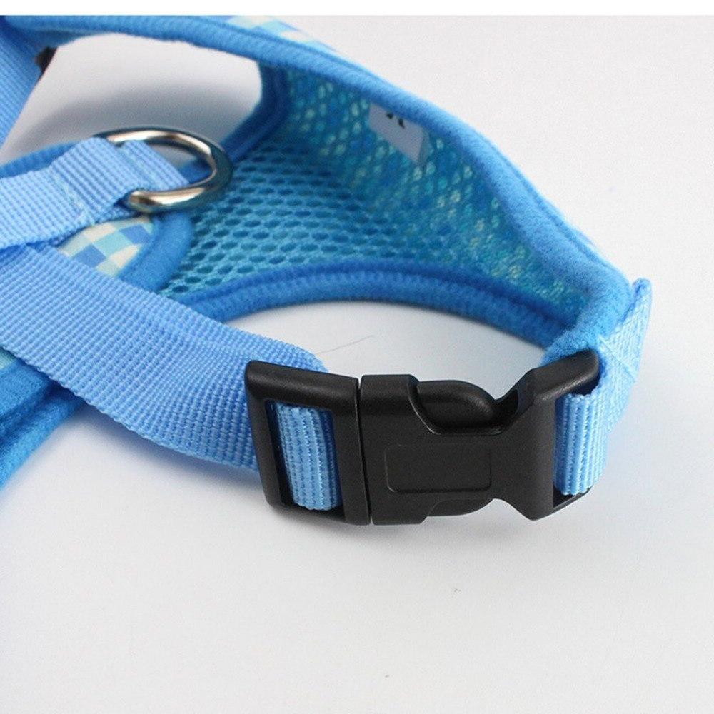 Breathable plaid straps chest strap pink plaid <font><b>harness</b></font> <font><b>leash</b></font>