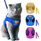 Cat Dog Harness and Leash Set Adjustable Puppy Kitten Walkin
