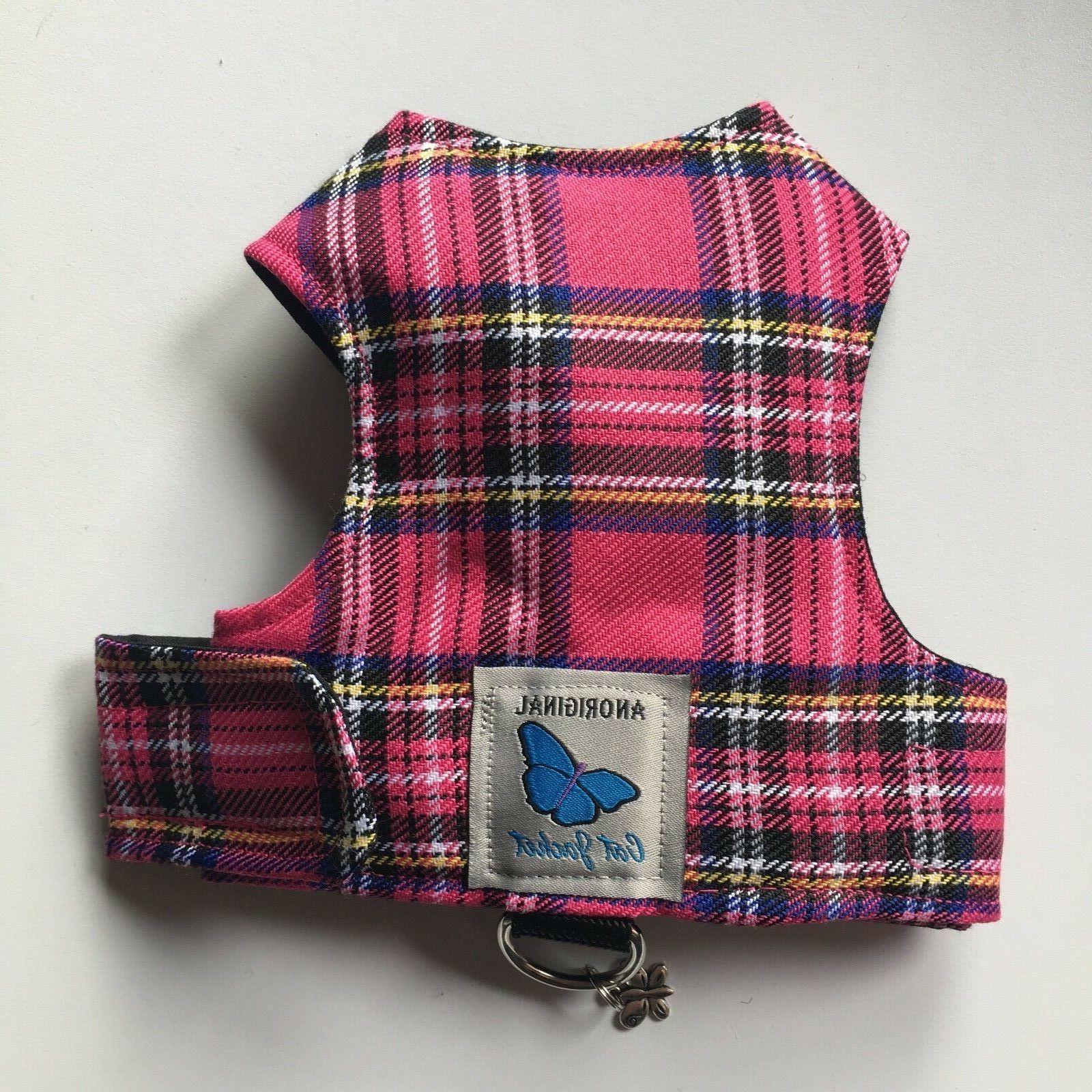 Butterfly Cat Jackets - Cat Walking Harness Jacket Tartan Pl