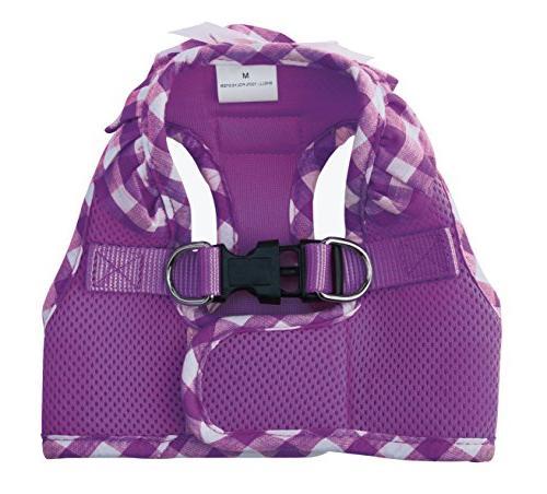 PUPTECK Frills Mesh Vest Puppy Pet Harnesses for Cat Purple
