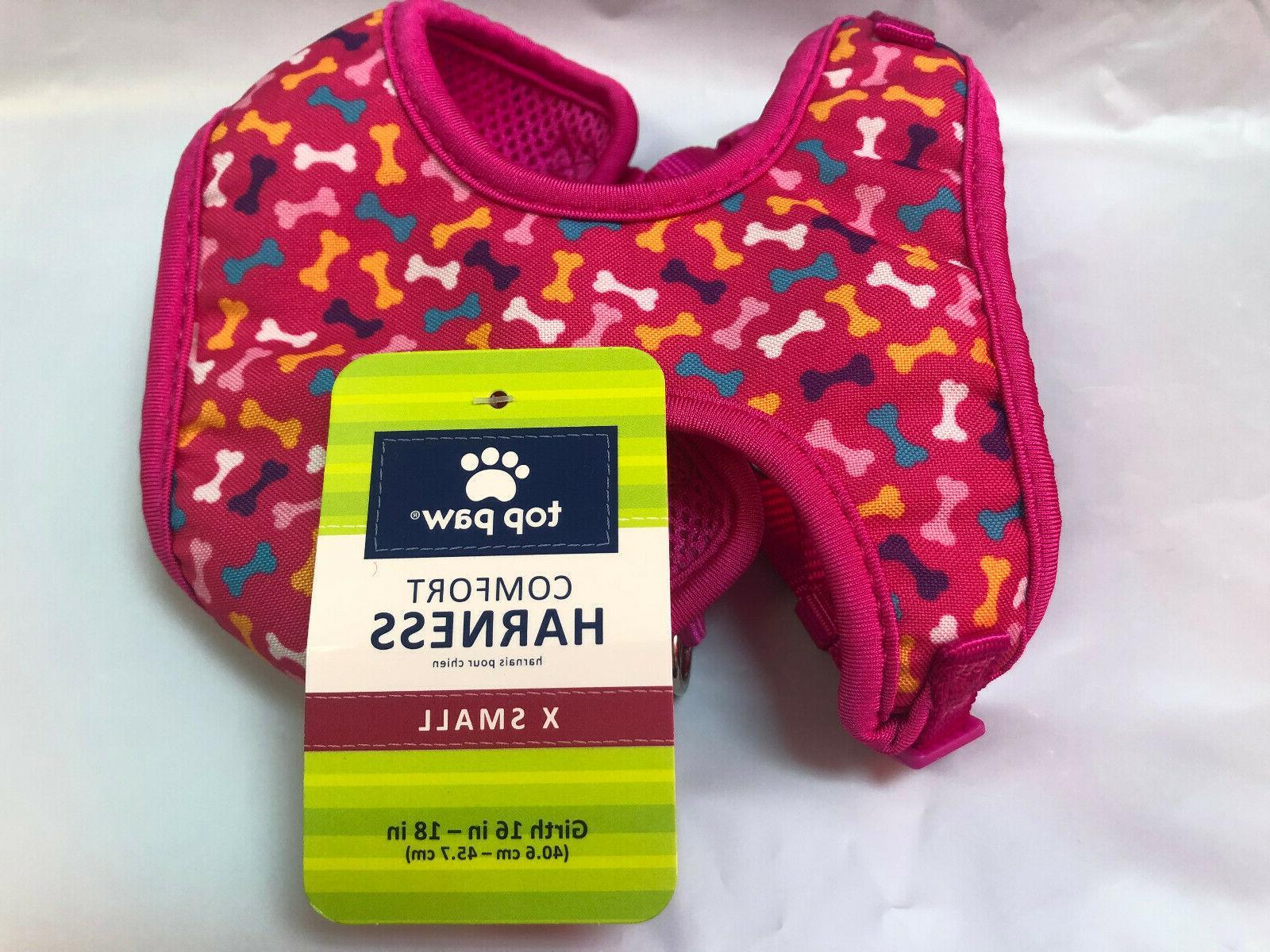 "TOP PAW  COMFORT DOG HARNESS  X-SMALL  16-18""  GIRTH   PINK/"