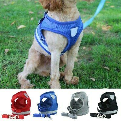 harness pet vest leash and dog mesh