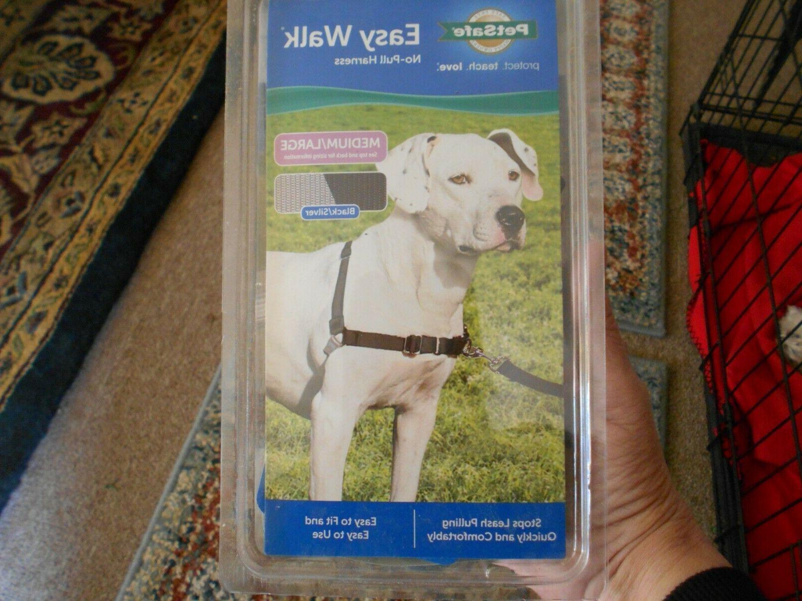deluxe easy walk dog harness medium large