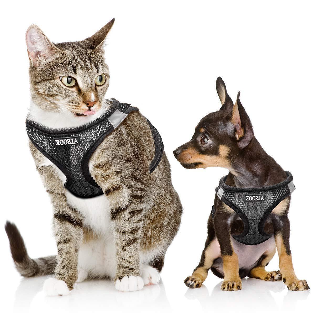 dog cat adjustable vest harness escape proof