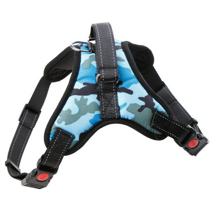 Dog Harness Adjustable Duty Reflective Handle Mesh Leash