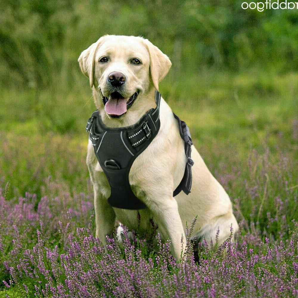 dog harness no pull pet adjustable reflective