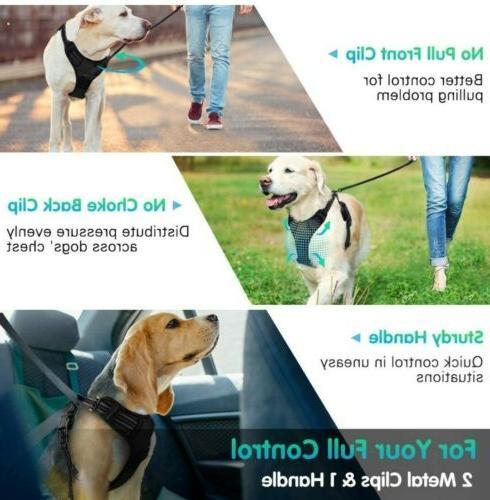 Eagloo Dog Harness with 2 Metal and Handle...