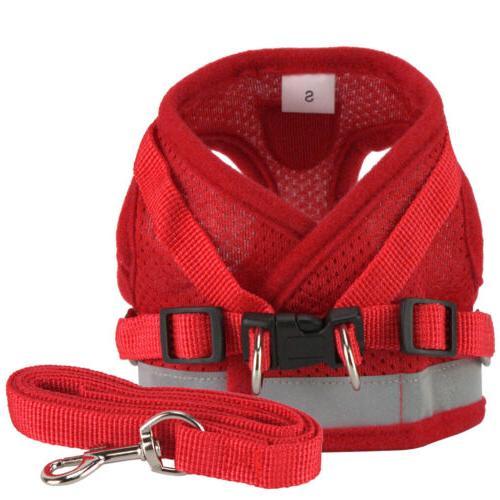 Pet Puppy Harness Mesh Set Vest Strap Small Dog