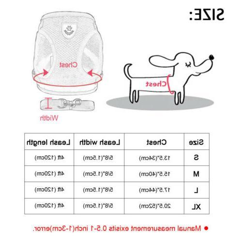 Dog Nylon Mesh Puppy Harnesses Lead Leash