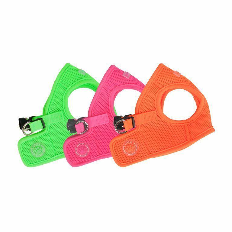 dog harness soft vest neon choose color