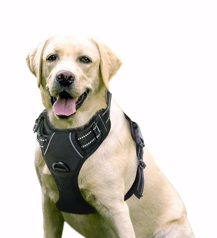 dog harness vest no pull reflective large