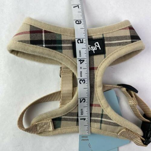 Pupteck with Leash Plaid Adjustable No Pull