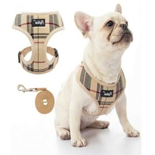Pupteck with Leash Plaid No Pull