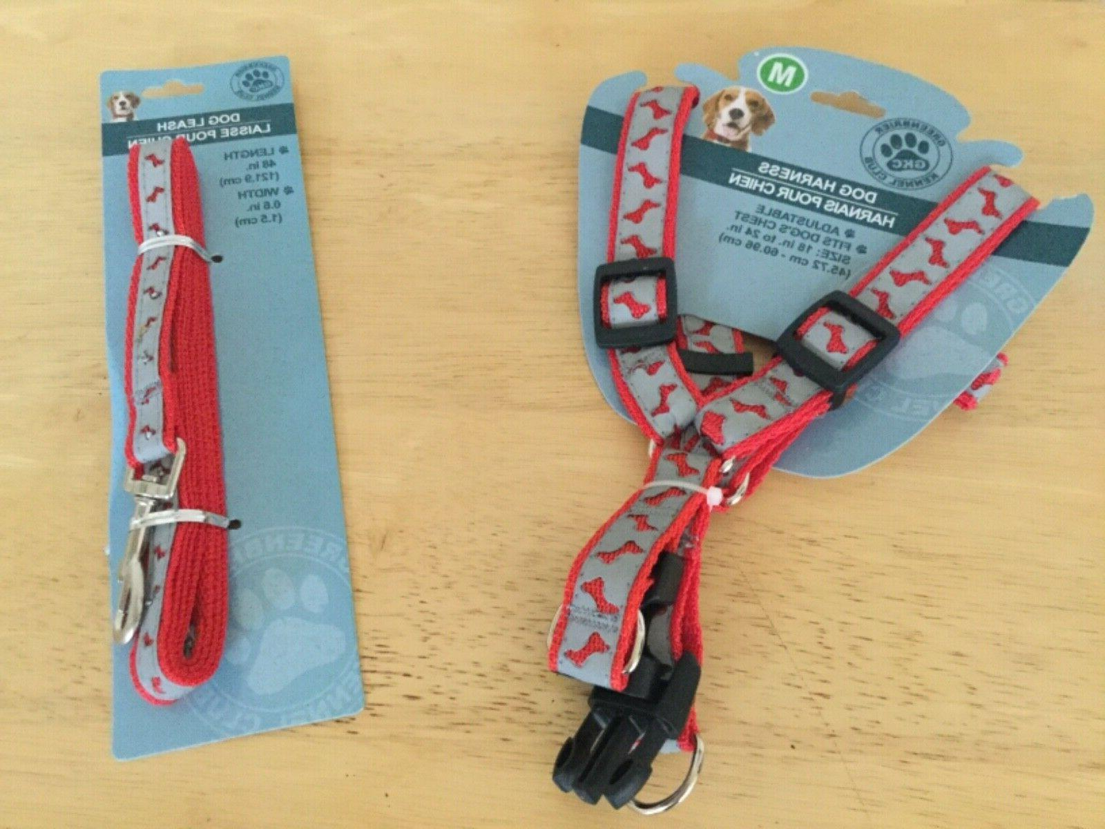 dog leach nylon and strap harness size