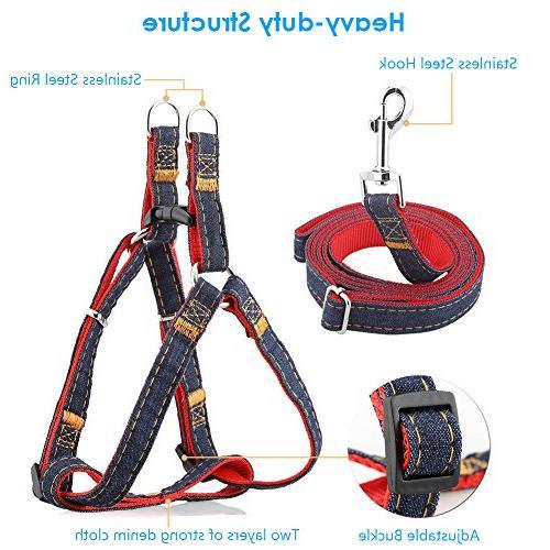 URPOWER Dog Leash Adjustable Set & Heavy Denim Dog for and Large Dog, Daily Training Walking )