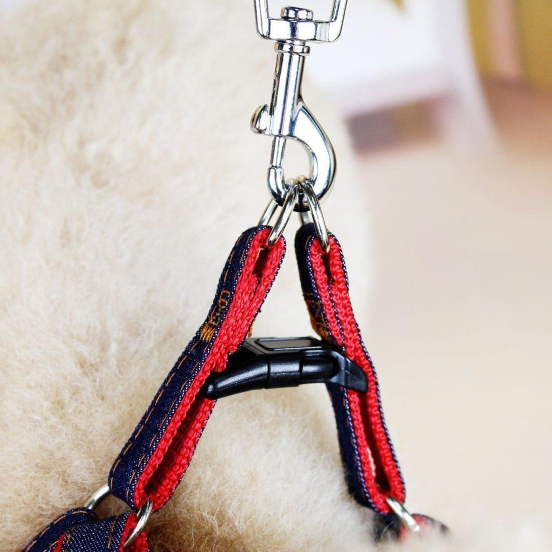 Lifepul Dog Collar Set Heavy Duty Denim Set Large Blue &