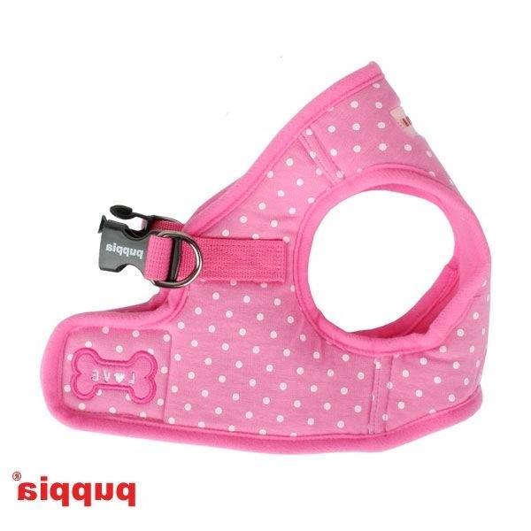 Puppia - Dog Puppy Harness Soft Vest - Dotty - Pink - S, M,