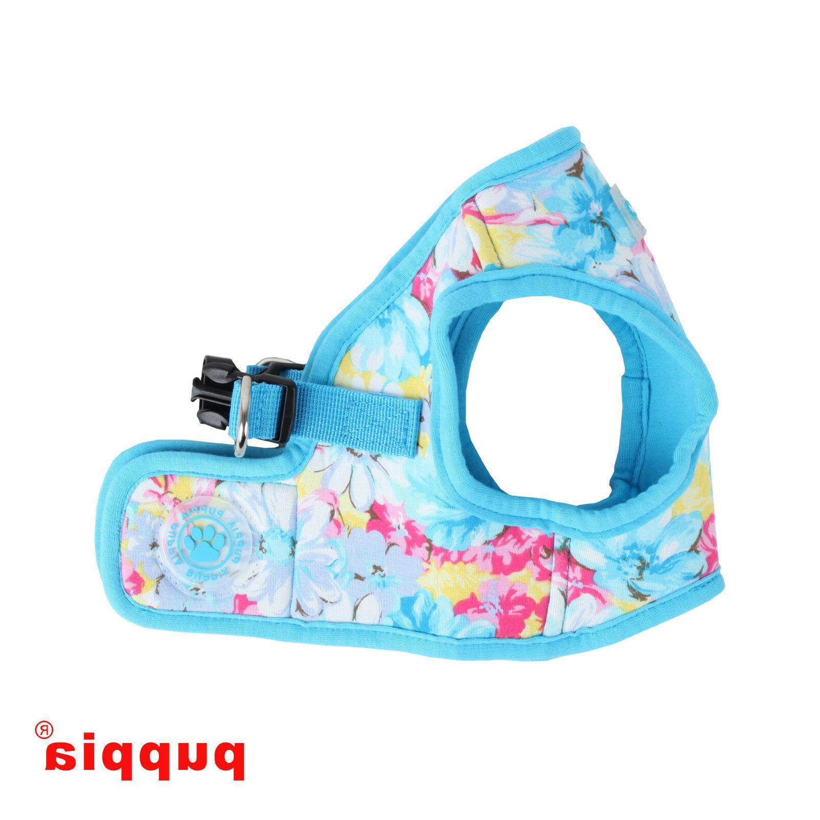 Puppia - Dog Puppy Harness Soft Vest - Spring Garden - Blue
