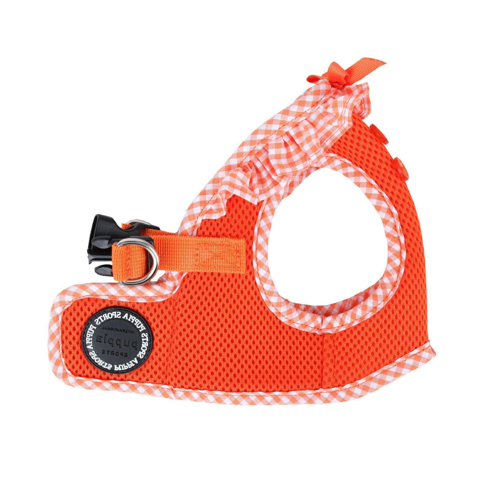 dog puppy harness soft vest vivien orange