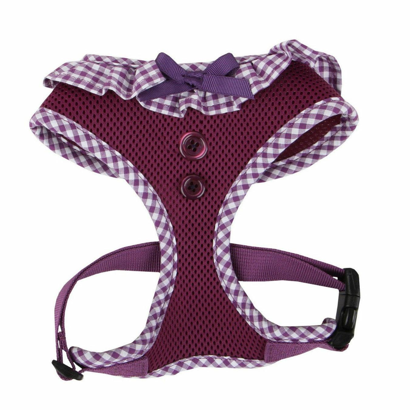 dog puppy mesh harness vivien purple choose