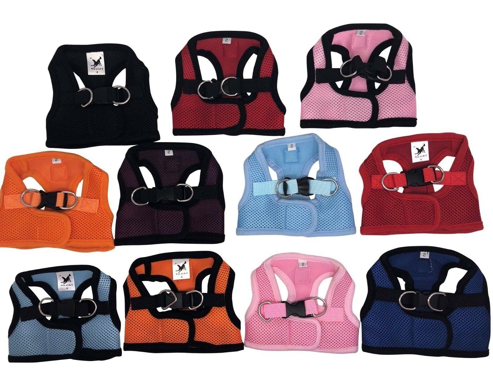 Dog Puppy Soft Harness Vest - Breathable Mesh - 11 Colors -
