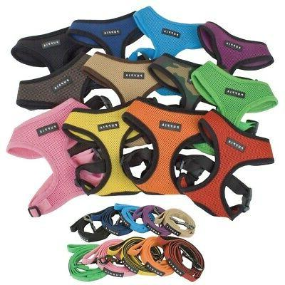 dog puppy soft mesh harness and a