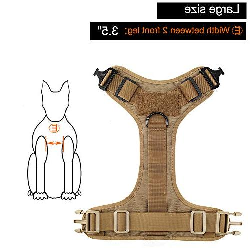 ICEFANG Dog Harness,Military Molle Clip,Metal Buckle Easy On Off , Half Body)