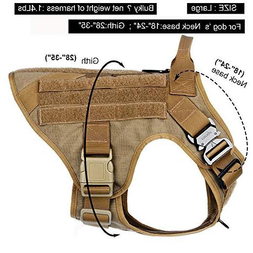 ICEFANG Dog Harness,Military Working Molle Clip,Metal Half