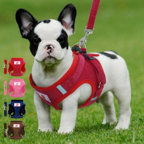Dog Walking Harness Leash Set Escape Proof Puppy Breathable