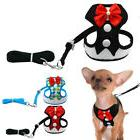 Elegant Bow Pet Dog Harness and Leash Mesh Puppy Vest Breath