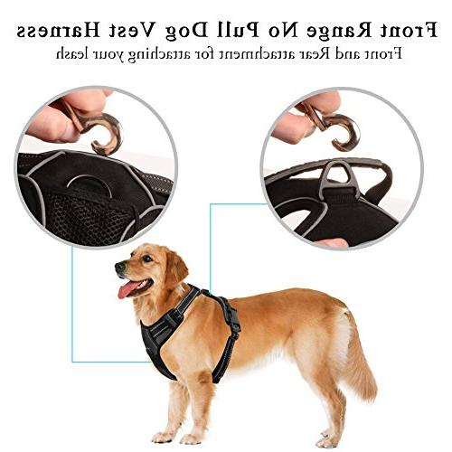 Lifepul Pull Dog Harness - Dog Body Reflective Vest - for for Medium Dogs Training &Walking