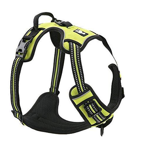 Best Range Dog Harness. Reflective Outdoor Pet Vest with 3 Stylish Colors and 5