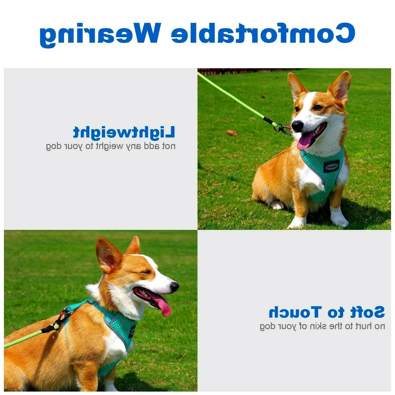 Harness Reflective Dog Soft Puppy Vest Neon