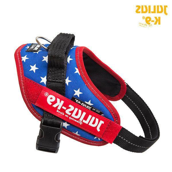 Julius K9 IDC Powerharness Dog Harness USA Flag Red-White-Bl