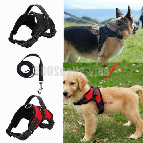 Large Dog Leash Harness Adjustable Pet Control Training