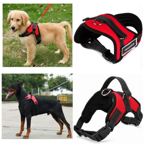 Large Pet Dog Harness Vest Collar Adjustable Soft Collar Wal