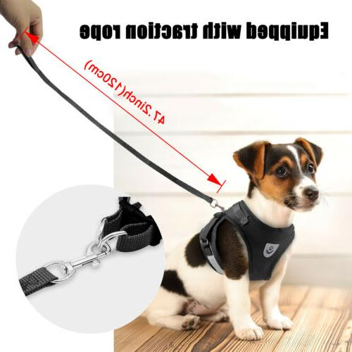 Leash + Small Dog Puppy Harness Breathable Vest Chest Strap S XL