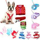 Lovely Pet Dog Puppy Soft Mesh Fabric Adjustable Harness Lea