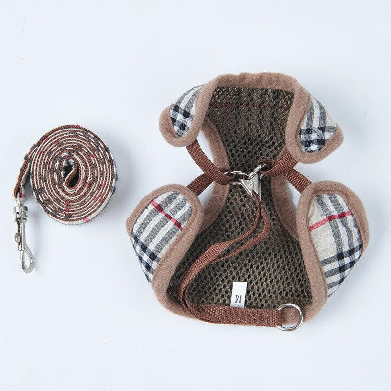 LV GG Leash Set Small Dog Cat Pet Supplies Out Tools
