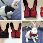 Mesh Dog Harness With Leash For Hamster Rabbits Bunny Ferret