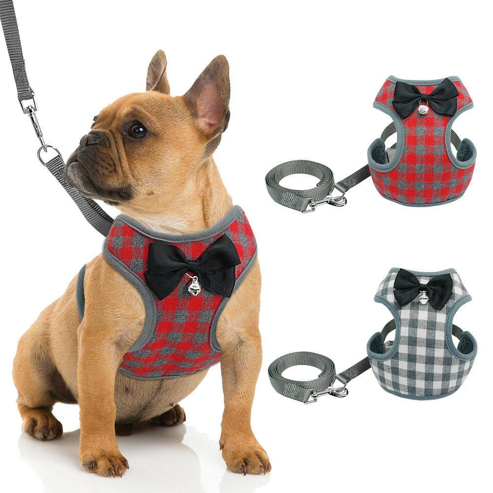 Mesh Padded Dog Harness and Leash Pet Puppy Vest for Small M
