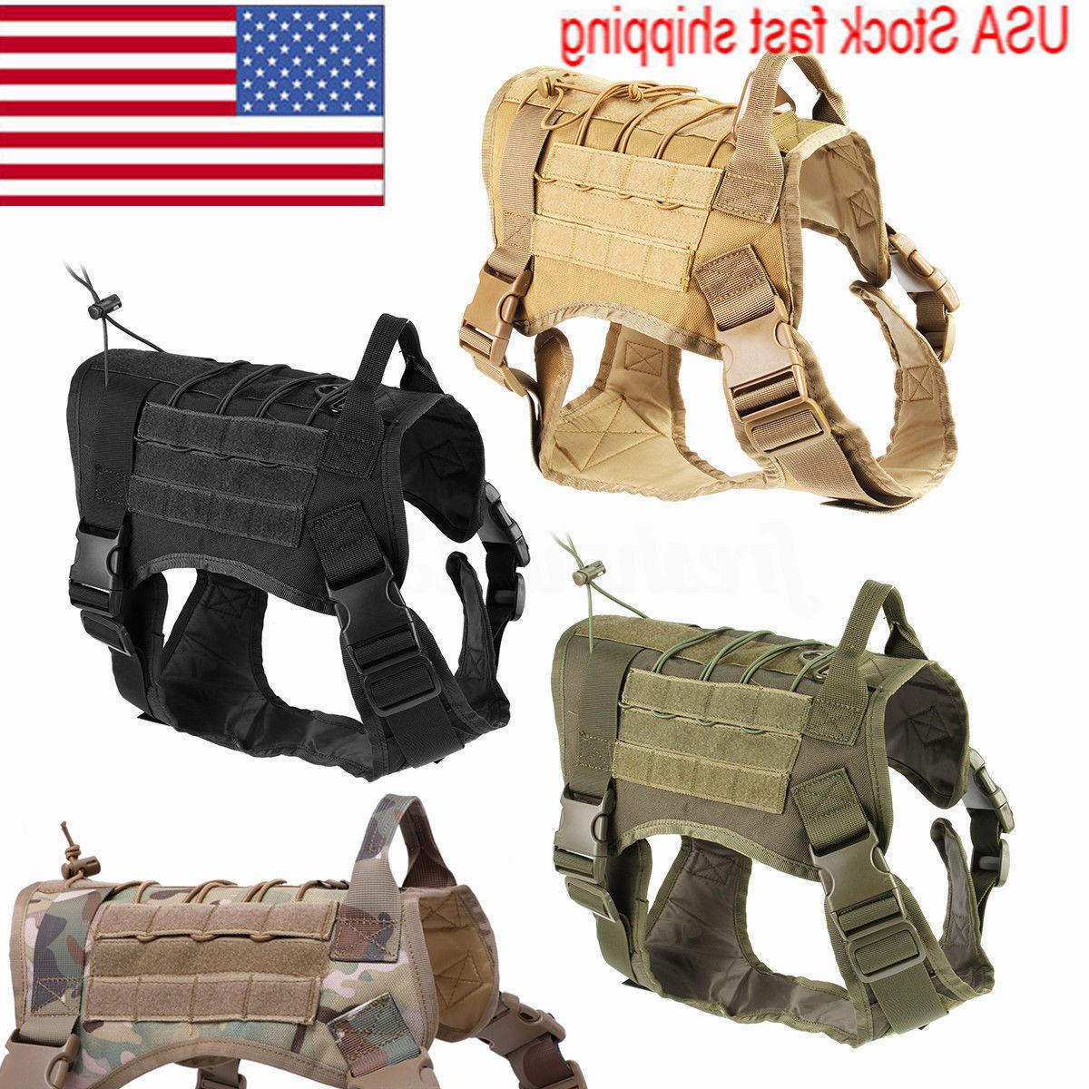Military Tactical Training K9 Dog Harness Nylon Vest for Pol