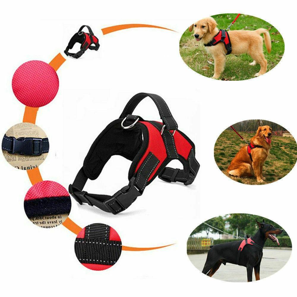 New Pet Harness Pull Adjustable Medium Large