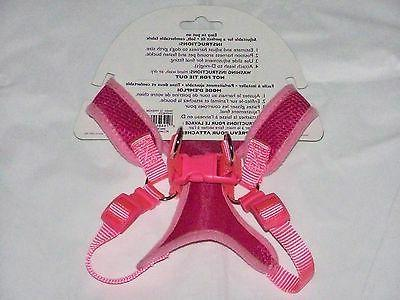 NEW X SMALL Male Female Puppy Dog Pink Adjustable MESH Harness