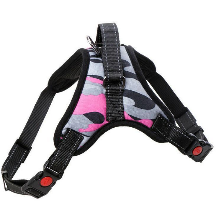 Dog Harness Adjustable Duty Reflective Padded Handle Mesh Vest Leash
