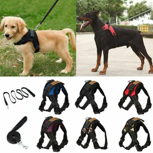 no pull adjustable dog vest harness leash