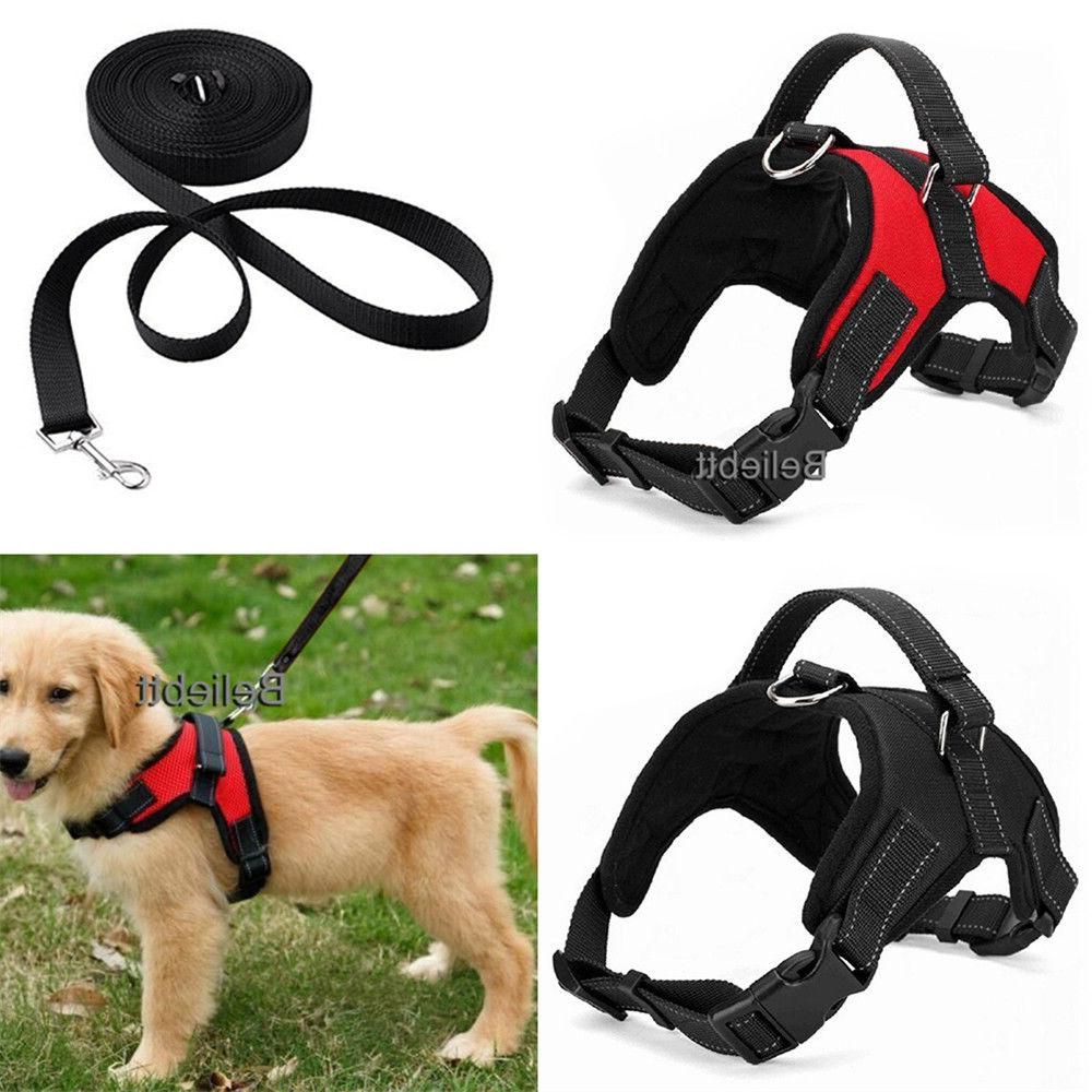 No Pull Adjustable Dog Vest Harness Leash Collar Set  for Sm